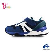 【童鞋日本百年品牌-月星HI系列新貨】Moonstar機能鞋 中大童 運動鞋慢跑鞋 J9614#藍色◆OSOME奧森鞋業