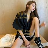 工裝連體短褲女夏季泡泡袖寬鬆氣質薄款雪紡闊腿連身褲子【繁星小鎮】