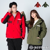情侶 衝鋒外套【OBIYUAN】 超保暖 高品質 多口袋 防風 鋪棉外套【X8029】