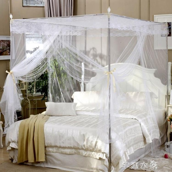 蚊帳 新款蚊帳1.5米1.8m床雙人家用1.2網紅落地支架加密加厚三開門 交換禮物