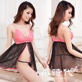 情趣睡衣 內衣套裝透明吊帶蕾絲睡裙性感透視女三點式
