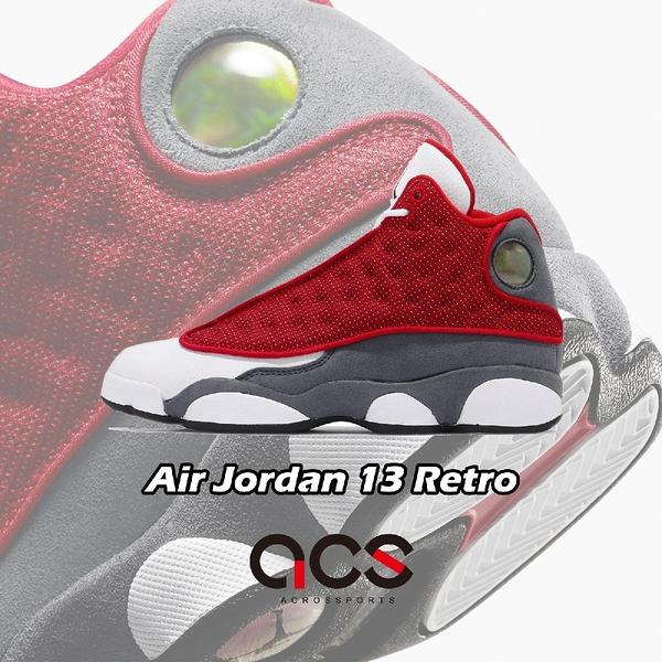 Nike Air Jordan 13 Retro GS Red Flint 白 紅 XIII 女鞋 AJ13 【ACS】 884129-600