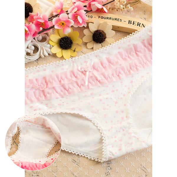 內褲 日系 點點蛋糕可愛蕾絲三角內褲 學生 甜美可愛  質感優 多色可選    【TPB033】-收納女王
