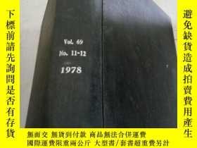 二手書博民逛書店the罕見journal of chemical physics vol.69 no.11-12 1978 (化學