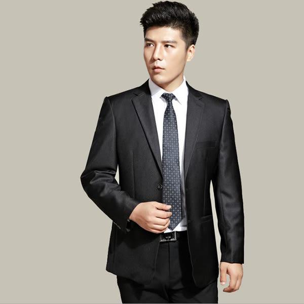 男士西裝外套+褲子~*艾美天后*~兩扣時尚收腰修身婚宴禮服男裝職業套裝商務西服