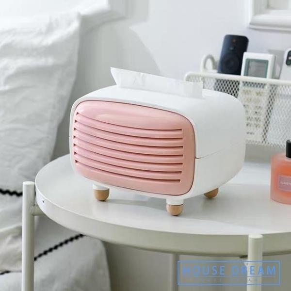 紙巾盒 創意可愛抽紙盒北歐ins臥室少女卡通輕奢風客廳家用少女心
