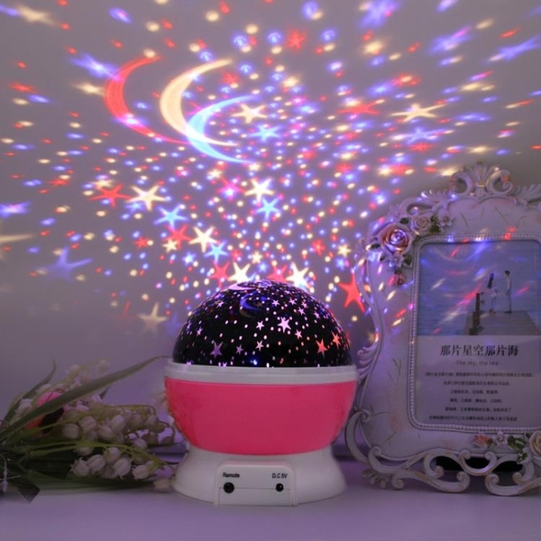 星空投影燈 儀創意夢幻浪漫旋轉滿天星小夜燈兒童睡眠燈臥室氛圍燈【快速出貨八折鉅惠】