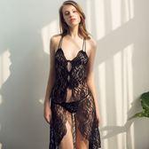 性感睡衣極度誘惑情趣內衣長款蕾絲睡裙吊帶家居服