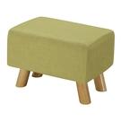 【森可家居】奈德綠色長方凳10ZX251-11 麻布椅凳 實木腳 北歐風