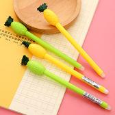 【BlueCat】好彩頭雙色鳳梨造型擦擦筆 中性筆 擦擦筆