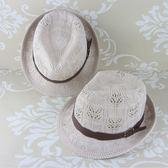 手工編織小禮帽英倫爵士帽出游戶外帽子女士夏天潮