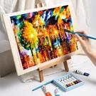 迷你桌面臺式木質兒童小畫架支架式折疊油畫桌上畫板畫架素描套裝初學者MBS「時尚彩紅屋」