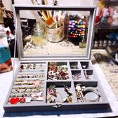 首飾收納盒簡約透明小飾品發卡耳夾頭公主