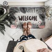 ins北歐綠植入戶進門地墊 家用臥室門口地毯廚房腳墊洗手間防滑墊 igo