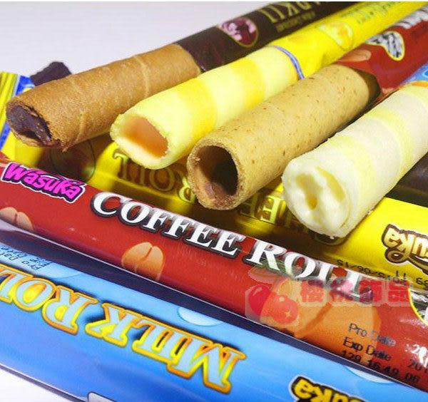 Wasuka/Deka 巧克力/起司/咖啡/牛奶 爆漿威化捲心酥(單支入)【櫻桃飾品】【24247】