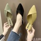 穆勒鞋夏季新款包頭半拖鞋女時尚外穿百搭尖頭粗跟穆勒低跟網紅涼拖女潮 suger