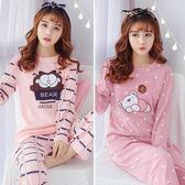 睡衣女秋冬季純棉長袖可愛套裝睡衣女冬天韓版清新學生女士家居服買一送一