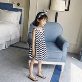 女童洋裝夏裝童裝韓版公主裙洋氣背心裙吊帶裙兒童裙子 韓語空間