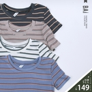 三色橫條坑紋軟料彈性短版上衣-BAi白媽...