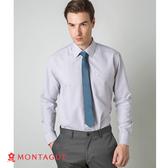 襯衫男款長袖 夢特嬌 素面直條紋吸濕排汗款 灰色 白灰色