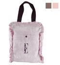 【ELLE】可愛花邊系列-輕便購物袋/補習袋 粉色_P6148030