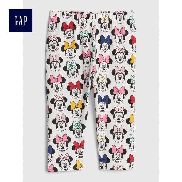 Gap x Disney女嬰兒 迪士尼系列印花休閒褲 497608-象牙白