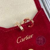 BRAND楓月 Cartier 卡地亞 K18 AU750 玫瑰金MINI LOVE耳環 3.6G 耳釘 耳針 針式耳環
