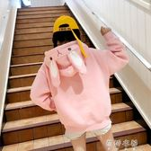休閒外套 休閒寬鬆原宿百搭純色衛衣女套頭韓版學生上衣外套潮 蓓娜衣都