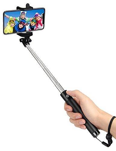 【美國代購】kungfuren Selfie Stick 專業5 內置遙控相機快門自拍杆適用於 iOS Android智能手機