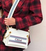 ■專櫃57折 ■Chloe Vick Logo 小牛皮 肩背包