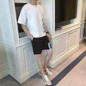 潮流韓版新款夏季運動沙灘休閒寬鬆學生五分男士套裝 QQ947『優童屋』