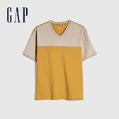 Gap男裝 純棉質感厚磅短袖T恤 901467-黃色
