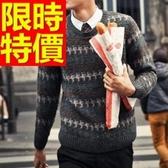 長袖毛衣-美麗諾羊毛韓版秋冬套頭男針織衫63t33【巴黎精品】