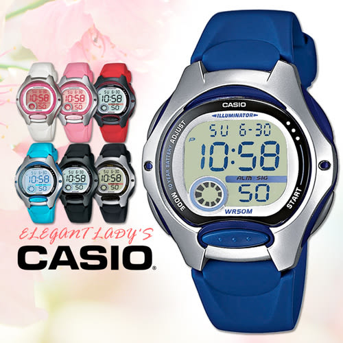 CASIO手錶專賣店 卡西歐 LW-200-2A 兒童錶 10年電池 球面玻璃 塑膠按鍵 膠質錶帶 數字電子錶