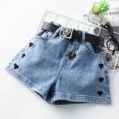 女童短褲 女童牛仔短褲兒童韓版高腰寬鬆熱褲2021新款夏季薄款大童女孩褲子