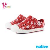 native水鞋 寶寶童鞋 男女童鞋 奶油頭 洞洞鞋 休閒鞋 懶人鞋 復古紅星 JEFFERSON L9469#紅色◆奧森鞋業