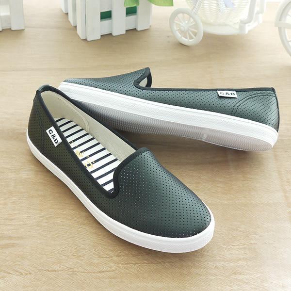 懶人鞋 透氣點點質感休閒鞋 C-1851