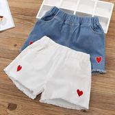 女童短褲夏季2019新款潮兒童洋氣白色牛仔褲外穿女孩百搭褲子夏裝