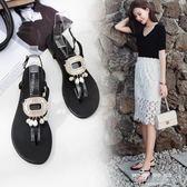 夏季羅馬平底涼鞋女時尚外穿涼拖夾腳簡約學院防滑潮流沙灘鞋可可鞋櫃