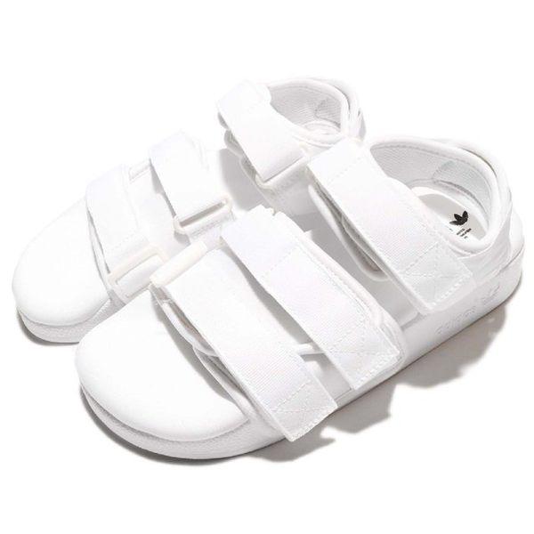 【GT】Adidas Originals W Adilette Sandal 白 女鞋 涼鞋 拖鞋 機能 愛迪達 休閒鞋 魔鬼氈 BB5096