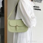 夏季復古腋下包小眾設計單肩包包女2020新款夏季百搭手提包法棍包 漾美眉韓衣