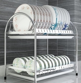 碗架瀝水架304不銹鋼廚房置物架碗筷收納碗碟架瀝水晾濾放碗架2層