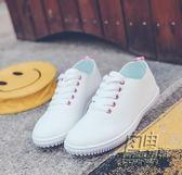透氣小白鞋女夏季2019新款韓版百搭鞋子女學生鞋平底白色鏤空板鞋 自由角落