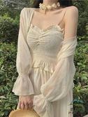 防曬外套女女夏短款薄款冰絲開衫空調衫配吊帶裙子的小披肩【步行者戶外生活館】