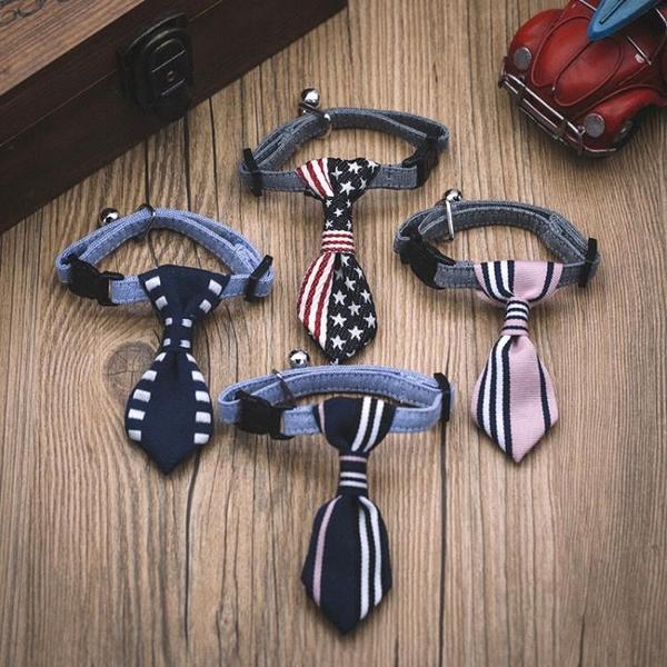 寵物飾品配飾狗狗領帶項圈泰迪蝴蝶結小狗貓咪領結英短英倫三角巾 黛尼時尚精品