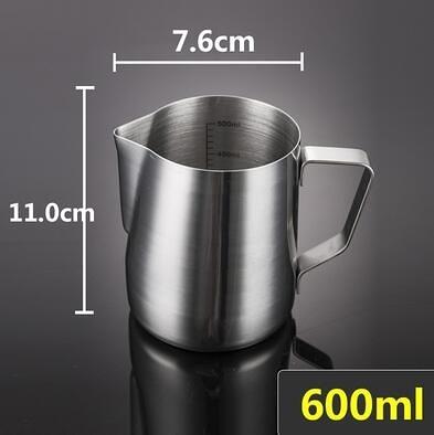 304不銹鋼尖嘴拉花杯咖啡壺