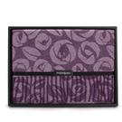 YSL典雅玫瑰流蘇羊毛披肩禮盒(紫色)989208-62