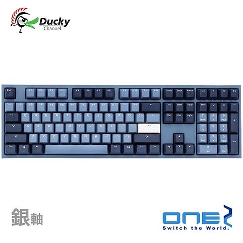 Ducky One 2 海波浪 GOOD IN BLUE 銀軸 PBT 二色成型 Cherry 機械式鍵盤