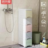 衛生間浴室置物架廁所夾縫洗衣機儲物櫃落地整理櫃馬桶塑料收納架 NMS 快意購物網