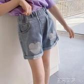 女童短褲2020夏裝新款小女孩外穿褲子兒童夏季褲洋氣牛仔短褲 米娜小鋪